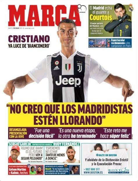 2018 07 17 Portada de Marca  España  | Cristiano, Marca ...