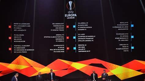 2018/19 Europa League match and draw calendar   Football ...