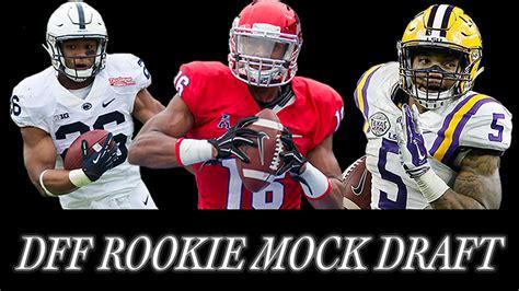 2018 Dynasty Rookie Mock Draft   Dynasty Football Factory
