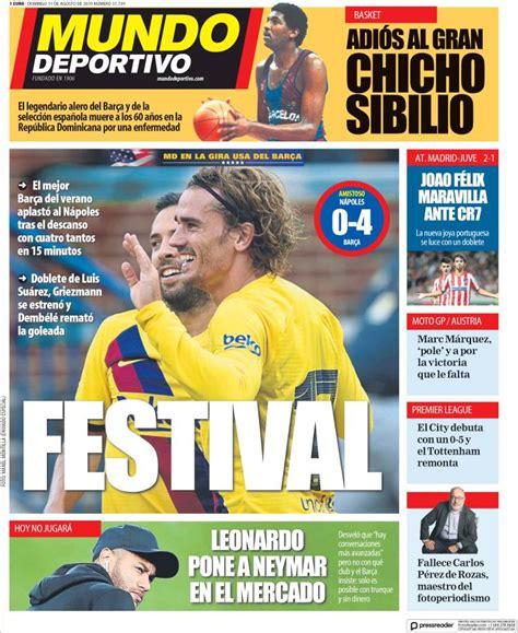 2019 08 11 Periódico El Mundo Deportivo  España ...