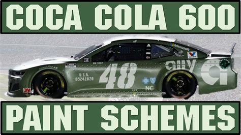 2020 Coca Cola 600 Paint Schemes Ranked #40 1 | My Opinion ...