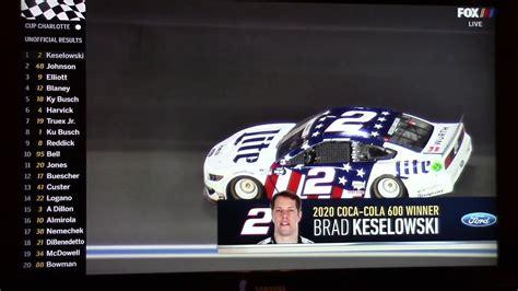 2020 NASCAR Coca Cola 600 Finish   YouTube