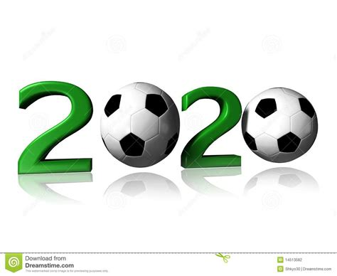 2020 soccer logo stock illustration. Illustration of green ...