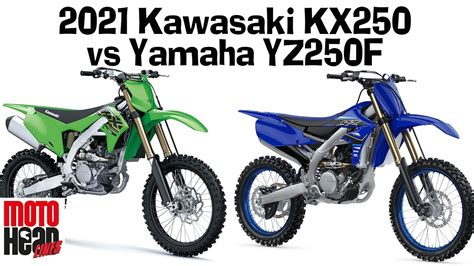 2021 Kawasaki KX250 vs Yamaha YZ250F: The all new kids on ...