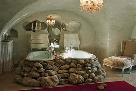 22 Natural Stone Bathtubs Emphasizing Their Spatialities