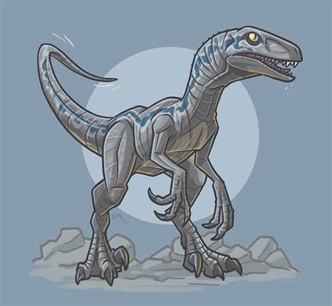 22 + velociraptor jurassic world blue para colorear