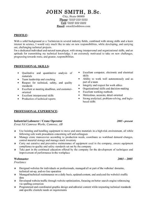 23 best Trades Resume Templates & Samples images on ...