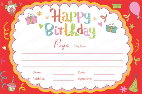 23+ Birthday Certificate Templates   PSD, EPS, In Design ...