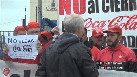 236 Trabajadores de la empresa Coca Cola en Madrid luchan ...