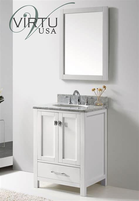 24 inch Transitional Bathroom Vanity White Finish Set ...