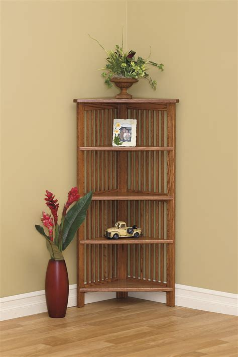 24 W Corner Bookcase   Amish Furniture Connections   Amish ...
