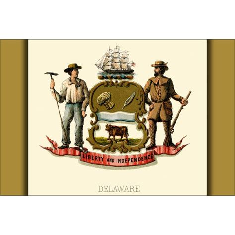 24 x36  Gallery Poster, Delaware state coat of arms ...