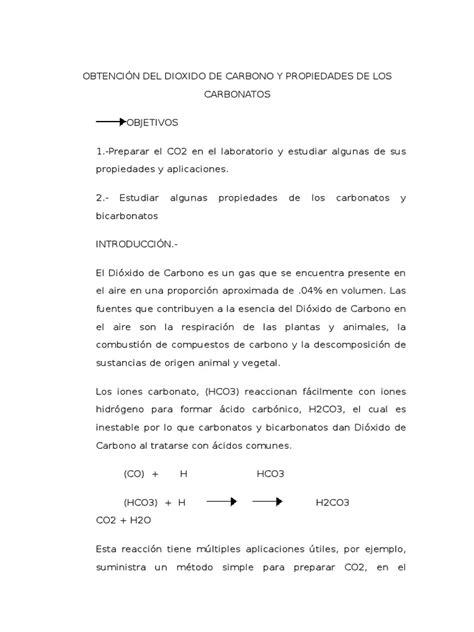 247795383 Obtencion Del Dioxido de Carbono y Propiedades ...
