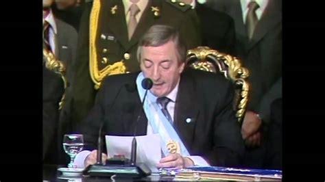 25 de Mayo de 2003. Asunción de Néstor Kirchner a la ...
