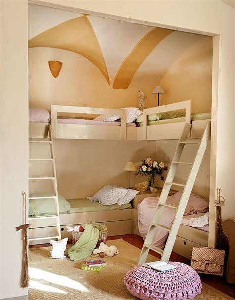 25 dormitorios infantiles con dos, tres ¡o más camas!