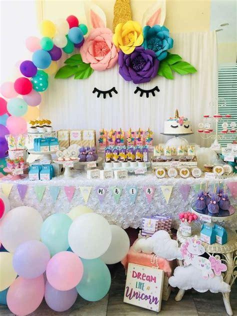 25 Ideas para armar un cumpleaños de unicornio   Más Chicos