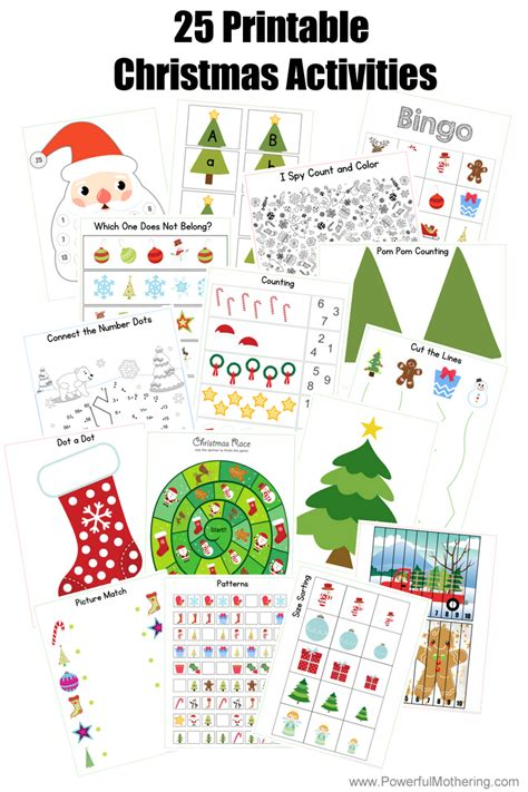 25 Printable Christmas Activities for Preschoolers and ...