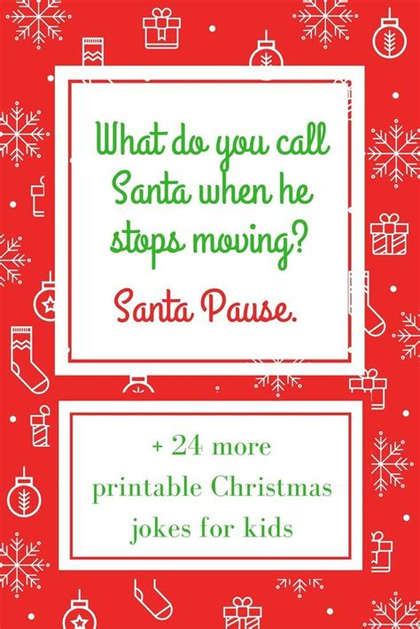25 Printable Christmas Jokes for Kids