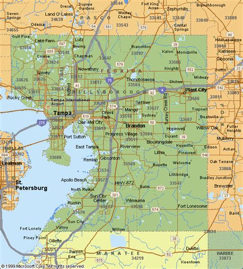 26 Map Of Hillsborough County Zip Codes   Maps Online For You