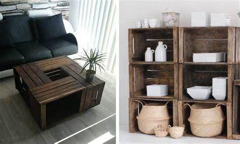 27 maneras de decorar tu casa utilizando cajas de madera ...