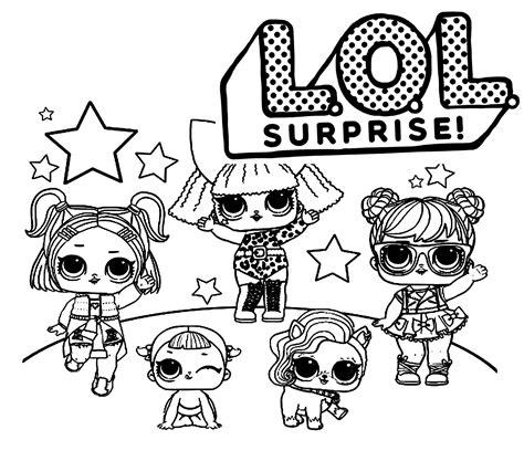 28 Dibujos de L.O.L. Surprise para colorear PDF