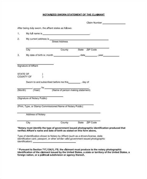 29+ Sworn Statement Templates   Word, PDF