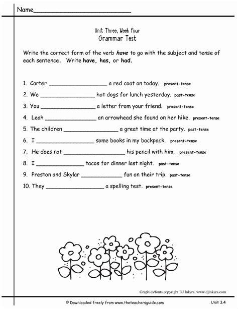 2nd Grade Grammar Worksheets Pdf New Worksheets for All ...