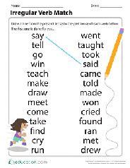 2nd grade Past Tense Verbs Printable Worksheets ...