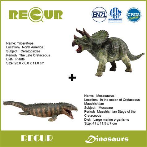 2pcs/lot Recur Toys Jurassic Dinosaur Triceratops ...