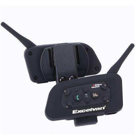 2x Excelvan BT Motorcycle Helmet Bluetooth Headset ...