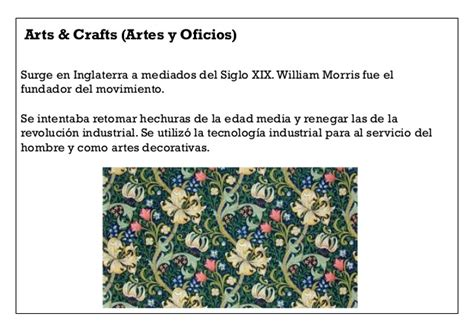 3. arts & crafts modernismo