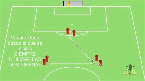 3 ejercicios triangulaciones rápidas y tiro para fútbol ...