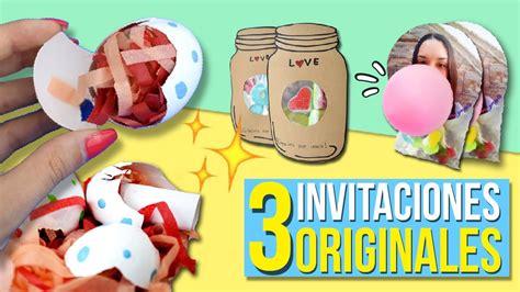 ¡3 INVITACIONES Súper ORIGINALES para TU FIESTA ...