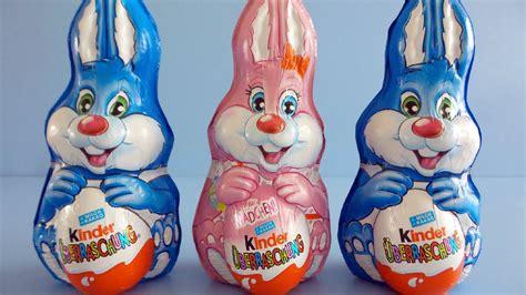 3 Kinder Surprise Easter Bunny Rabbit unboxing   YouTube