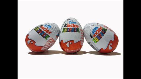 3 Kinder Surprise Eggs Unboxing   YouTube