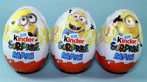 3 Kinder Surprise Maxi Despicable Me 3 Minions Movie Toys ...