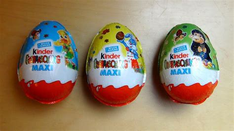 3 Kinder Surprise Maxi Eggs Unboxing [Easter Edition ...