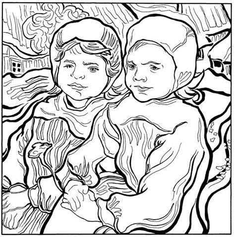 30 coloring pages of Vincent van Gogh | Van gogh coloring ...