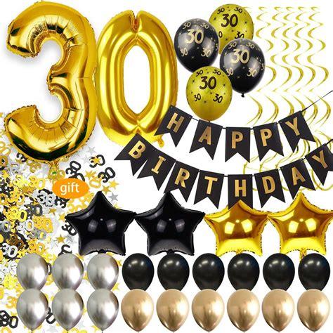 30 Cumpleaños Decoraciones Para Hombres Suministros Para ...