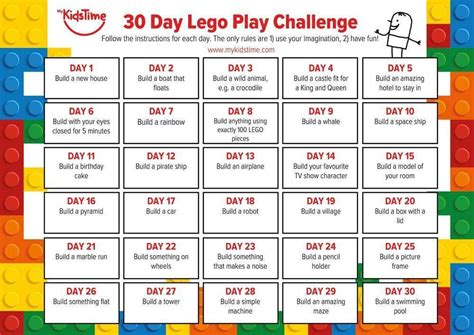 30 Day Lego Challenge For Kids   Enchanted Little World