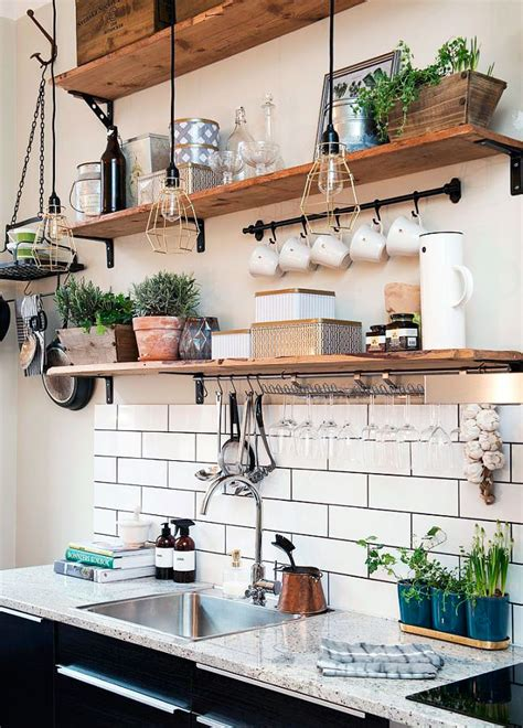 30 Ideas de Estanterías Abiertas para la Cocina   Decorar ...