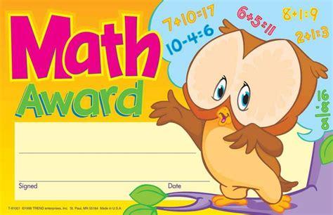 30 Kids Math Award children s Reward Recognition ...