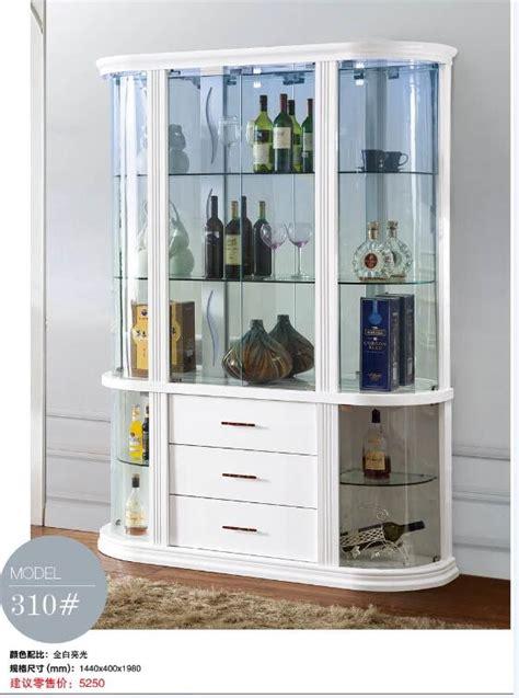 310# Living room furniture display showcase wine cabinet ...
