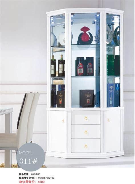 311# Living room furniture display showcase wine cabinet ...