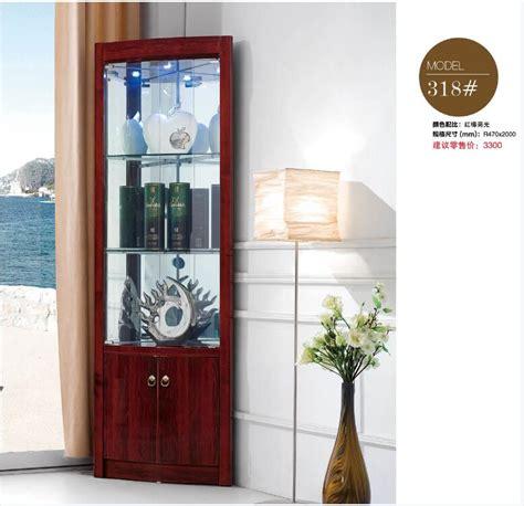318# Living room furniture round corner display showcase ...