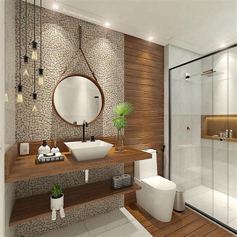 32 Beautiful Master Bathroom 3D Tile Designs For ...