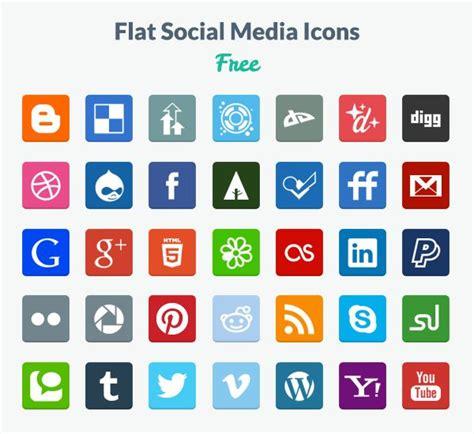 35 Iconos de redes sociales estilo flat   Frogx Three