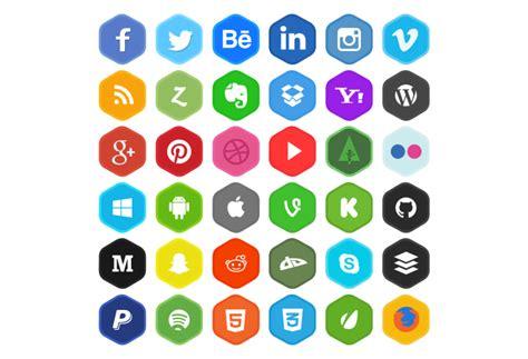 36 iconos de redes sociales en cuatro estilos gratis ...