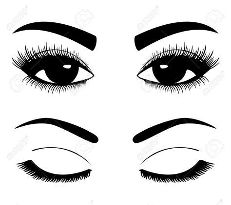 38784278 Siluetas negras de cejas y ojos aislados sobre ...