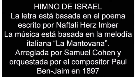 393 Himnario  HATIKVA – LA ESPERANZA – Himno de Israel en ...